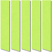 Apple Green Vertical Blinds, Warm & Vibrant Green Fabric