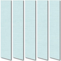 Azure Blue Vertical Blinds Quality Cool Pale Blue Fabric Slats