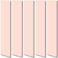 Baby Pink Blackout Vertical Blinds, Luxury Thermal Nursery Fabric