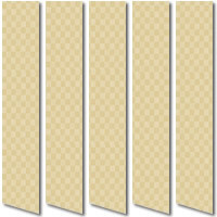 Brown & Beige Square Patterned Vertical Blinds, Made to Measure