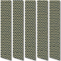 Dramatic Contemporary Black & Beige Patterned Vertical Blinds