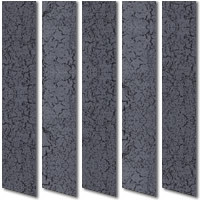 Crackled Silver & Black Waterproof Vertical Blinds PVC Fabric