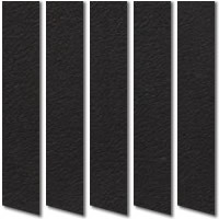 Black Suede Vertical Blinds, Luxury Made to Measure Blinds