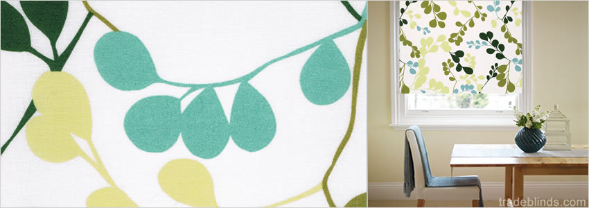 Layla Willow Tree Patterned Roller Blinds - Wide