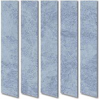 Blue Patterned Waterproof PVC Vertical Blinds, Made to Measure