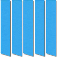 Bright Blue Blackout Vertical Blinds, Fire Retardant Thermal Fabric