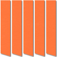 Bright Orange Blackout Vertical Blinds, Made to Measure