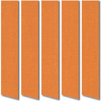 Bright Orange Vertical Blinds, Wonderfully Warm Vibrant Fabric