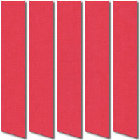 Bright Red Blackout Vertical Blinds, Thermal Magenta Fabric