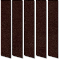 Chocolate Brown Suede Vertical Blinds, Luxury Made to Measure