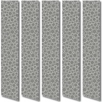 Contemporary Funky Circle Patterned Grey Vertical Blinds