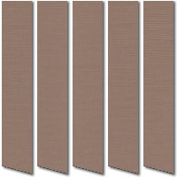 Clay Brown Vertical Blinds, Beautiful Creamy Brown Fabric