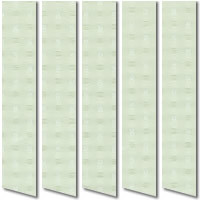 Conservatory Blinds, Square Patterned Clover Green Vertical Blinds