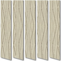 Natural & Organic Brown & Beige Contemporary Patterned Vertical Blinds