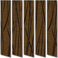 Rio Wheat Patterned Vertical Blinds