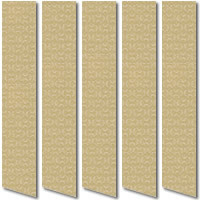Elegant Contemporary Golden Beige & Brown Vertical Blinds
