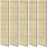 Cream, Beige & Brown Waterproof Vertical Blinds, PVC Vinyl Slats