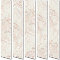 Gorgeous Cream & Pink Waterproof Vinyl PVC Vertical Blinds