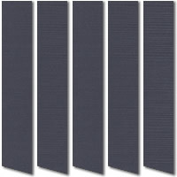 Dark Grey Vertical Blinds, Very Chic Made to Measure Shades
