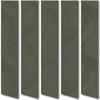 Patterned Sage Green Vertical Blinds, Quality Made to Measure