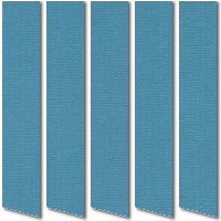 Deep Blue Vertical Blinds, Wonderful Rich Blue Quality Fabric