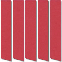 Deep Red Blackout Vertical Blinds, Fire Resistant Thermal Fabric