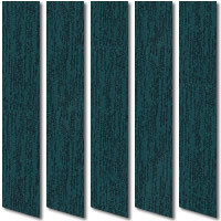Black & Turquoise Vertical Blinds, High Quality Luxury Designer Slats