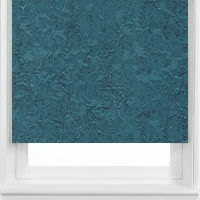 Teal Blue Roller Blinds, Fabulous Luxury Crushed Fabric Roller Blinds