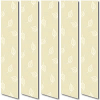 Cream Vertical Blinds, Beautiful Falling Leaves Made to Measure