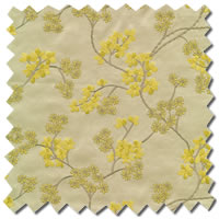 Luxury Curtains, Flowers Patterned White Gold & Yellow Curtains