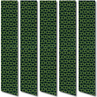 Xanadu Pistachio Green Vertical Blinds