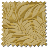 Luxury Curtains, Opulent Shimmering Gold Leaves Patterned Curtains