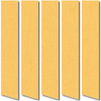 Golden Yellow Blackout Vertical Blinds, Luxury Thermal Fabric