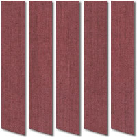 Deep Rouge Red Vertical Blinds, Rich Luxurious Grained Fabric