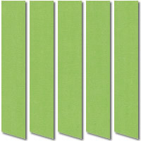 Luxury Thermal Blackout Vertical Blinds, Lush Grass Green Fabric