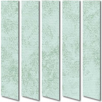 Patterned Green Waterproof PVC Vertical Blinds, Made to Measure
