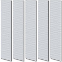 Cool Grey Waterproof PVC Vertical Blinds, Wipe Able Washable
