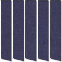 Indigo Blue Vertical Blinds, Fabulous Rich & Dark Fabric
