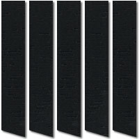 Jet Black Vertical Blinds, Luxurious & Distinctive Woven Fabric
