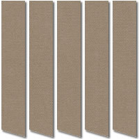 Light Brown Blackout Vertical Blinds, Luxury Thermal Fabric