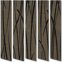 Light & Dark Brown Grasses Contemporary Patterned Vertical Blinds