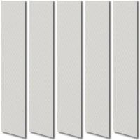 Light Grey Waterproof Vinyl Vertical Blinds, Washable Wipe Able