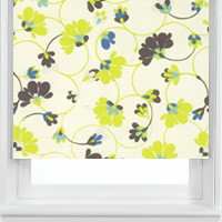 Flowers Boutique Blue Roller Blinds