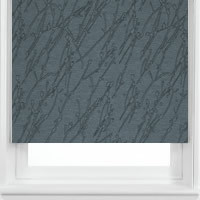 Contemporary Patterned Shiny Grey Twigs & Branches Roller Blinds