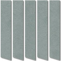 Luxury Vertical Blinds, Gorgeous Plush Grey Suede Fabric