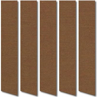 Made to Measure Hemp Brown Vertical Blinds