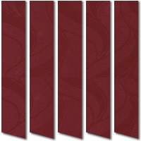 Maroon Vertical Blinds, Refreshing Cranberry Crush Fabric