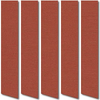Merlot Red Vertical Blinds, Wonderful Rust Red Louver Fabric