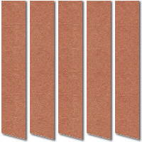 Metallic Copper Vertical Window Blinds, Made to Measure