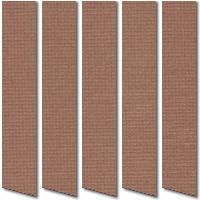 Shade Mocha Brown Vertical Blinds